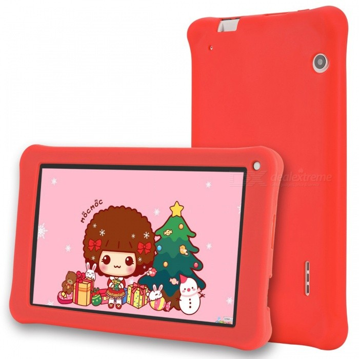 """Aoson M753-S 7"""" Kid's Tablet PC Quad-Core Android 6.0 1024x600 IPS, Pre-install Kids Software, 1GB RAM, 16GB ROM - Red"""