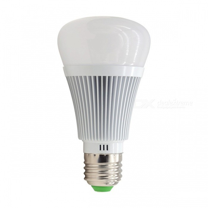 E27 6W Wi-Fi Smart Dimmable RGB LED Lamp, Wireless Remote Control by Phone for Smart HomeSmart Lighting<br>Color BINRGBModelB1MaterialAluminum + PlasticForm  ColorSilverQuantity1 DX.PCM.Model.AttributeModel.UnitPower6WRated VoltageOthers,AC 90-260 DX.PCM.Model.AttributeModel.UnitConnector TypeE27Emitter TypeLEDTotal Emitters1Actual Lumens600 DX.PCM.Model.AttributeModel.UnitColor Temperature12000K,Others,2800K-6500KDimmableYesBeam Angle120 DX.PCM.Model.AttributeModel.UnitPacking List1 x Led Bulb<br>