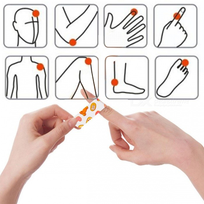 60Pcs Waterproof Cartoon Band Aid, Hemostasis Stickers First Aid Bandage for Stop Bleeding Outdoor Wound Closure