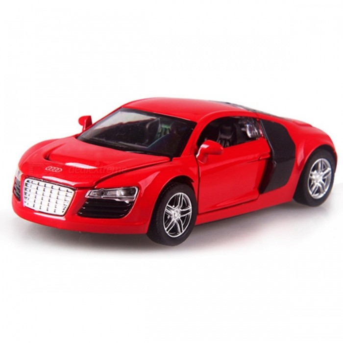 R8 1:32 Scale 14cm Alloy Super Car Toy for Children - RedEducational Toys<br>Form  ColorRedModelR8MaterialAlloy, PlasticQuantity1 DX.PCM.Model.AttributeModel.UnitSuitable Age 3-4 years,5-7 years,8-11 yearsPacking List1 x Car<br>