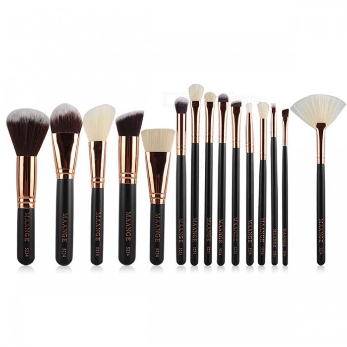 MAANGE-Complete-Makeup-Brushes-Set-Powder-Blending-Shadow-Cosmetic-Beauty-Brush-Black-(15PCS)