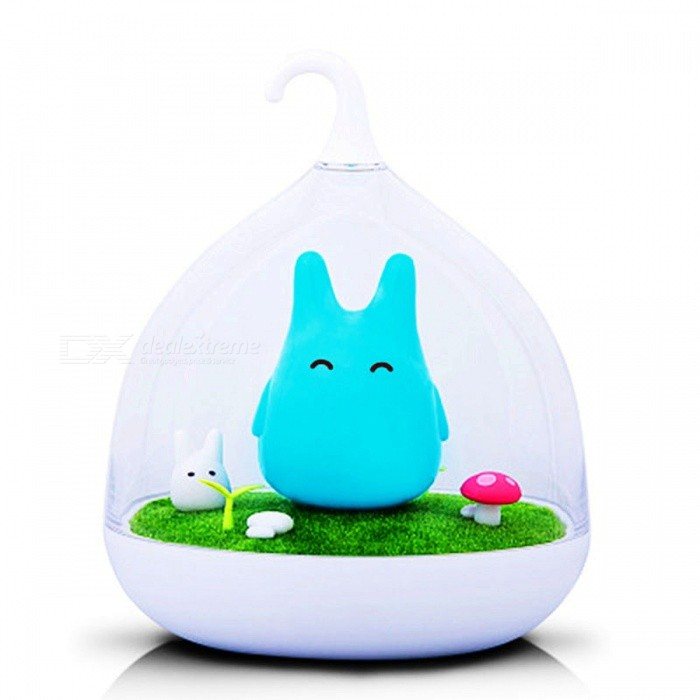 Totoro Shape Portable USB Touch Sensor LED Baby Nightlight - BlueUSB Lights<br>Form  ColorBlue + TransparentQuantity1 DX.PCM.Model.AttributeModel.UnitMaterialABS+PC+TPUShade Of ColorBlueLight ColorWhiteLED QtyOthers,/Powered ByUSBPower0.8 DX.PCM.Model.AttributeModel.UnitPacking List1 x USB Night Light<br>