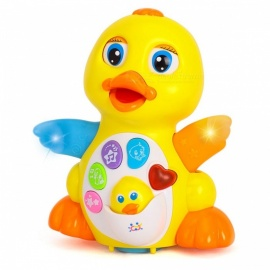 Electronic-Cute-Cartoon-Flapping-Duck-Style-Toy-Gift-for-Children-Kids-Yellow