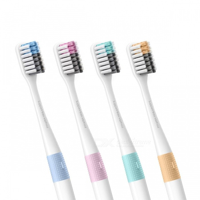 Xiaomi Doctor B Bass Method Antibacterial Sandwish-bedded Toothbrush w/ Travel Case (4 PCS)Lifestyle Gadgets<br>Form  Color4 Colors (4 PCS)ModelXiaomi Doctor B Bass ToothbrushMaterialN/AQuantity1 DX.PCM.Model.AttributeModel.UnitPacking List4 x Toothbrushes4 x Travel boxes<br>