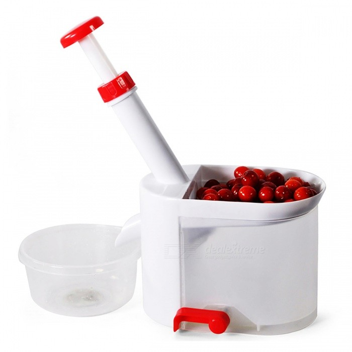 PJ494 Portable Cherry Seed Remover Pitter Corer, Stone Picker with ContainerForm  ColorPJ494ModelPJ494-J1MaterialPlasticQuantity1 DX.PCM.Model.AttributeModel.UnitPacking List1 x Cherry Pitter<br>