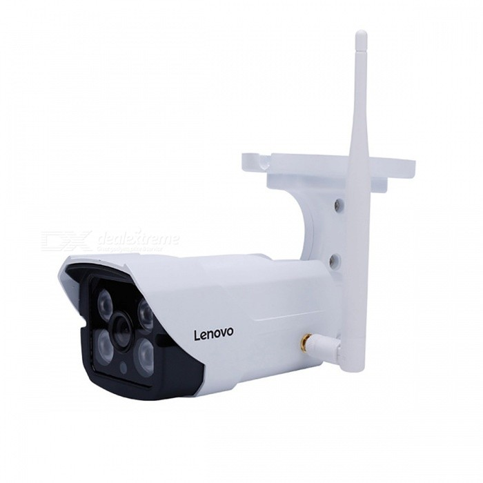 LENOVO Outdoor Waterproof 720P HD Wireless Wi-Fi Surveillance IP Camera with Built-in 16GB Memory Card - UK Plug