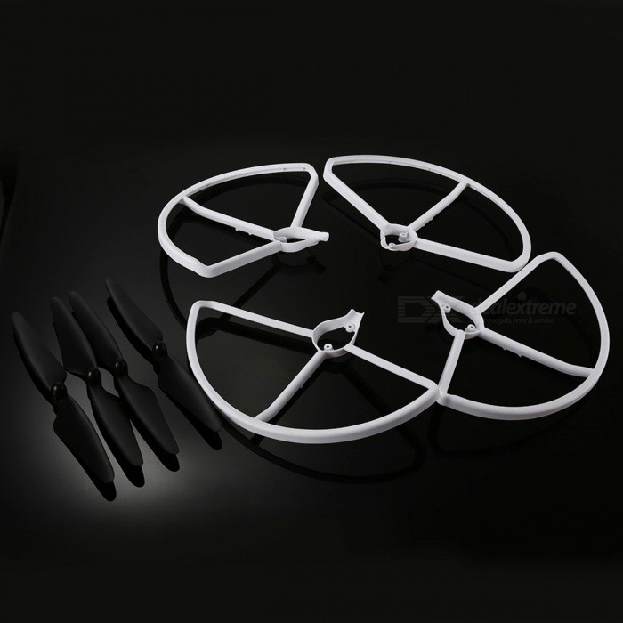 Hubsan 4Pcs Blades Propellers and 4Pcs Protection Frames for HUBSAN H501S H501C X4 RC Quadcopter - Black