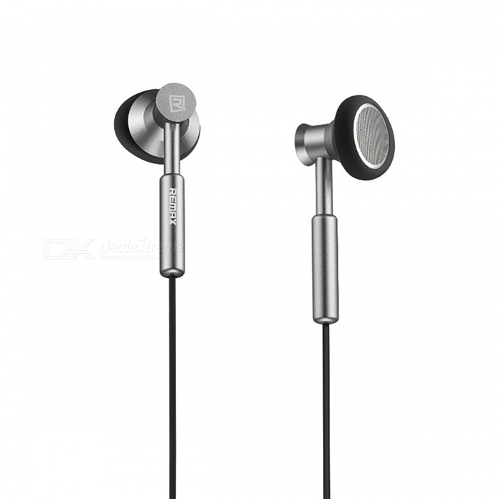 Remax 3.5mm Metal Stereo Headset Bass In-Ear Earphone with Micphone - GrayHeadphones<br>Form  ColorGreyBrandREMAXModelRM-305MMaterialMetal + TPEQuantity1 DX.PCM.Model.AttributeModel.UnitConnection3.5mm WiredBluetooth VersionOthers,N/ACable Length120 DX.PCM.Model.AttributeModel.UnitHeadphone StyleBilateral,Earbud,In-EarWaterproof LevelOthers,N/AApplicable ProductsUniversalHeadphone FeaturesPhone Control,Noise-Canceling,Volume Control,With Microphone,Lightweight,Portable,Game Headset,For Sports &amp; ExerciseSupport Memory CardNoSupport Apt-XNoSensitivity106dB ±3dBFrequency Response20 Hz - 20KHzImpedance32 DX.PCM.Model.AttributeModel.UnitPacking List1 x Earphones<br>