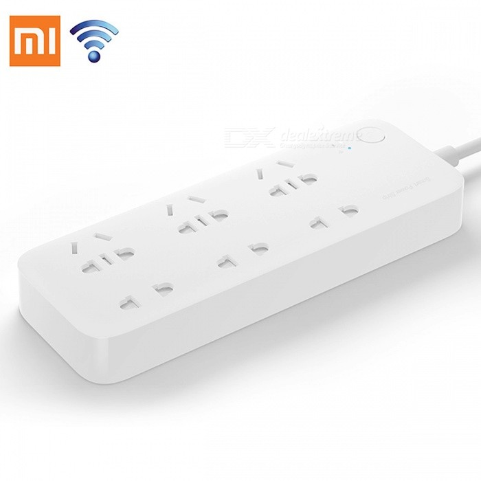 Original Xiaomi Mijia Smart Power Strip 2500W Intelligent 6 Ports Socket WiFi Wireless Remote Control + EU Adapter for sale in Bitcoin, Litecoin, Ethereum, Bitcoin Cash with the best price and Free Shipping on Gipsybee.com