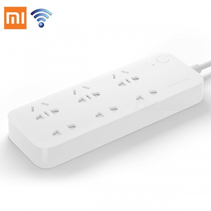 Original Xiaomi Mijia Smart Power Strip 2500W Intelligent 6 Ports Socket WiFi Wireless Remote ControlPlugs &amp; Sockets<br>Form  ColorWithout AdapterQuantity1 DX.PCM.Model.AttributeModel.UnitMaterial-Fireproof MaterialNoRate Voltage-Rated Current- DX.PCM.Model.AttributeModel.UnitRated Power- DX.PCM.Model.AttributeModel.UnitCompatible PlugOthers,-GroundingYesWith Switch ControlYesSurge Protection FunctionOthers,-Lightning Protection FunctionOthers,-With FuseOthers,-Power AdapterOthers,-Packing List1 x Smart Power Strip<br>