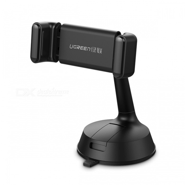 Ugreen LP131 Universal 360 Degree Adjustable Clip Car Phone Holder Stand - BlackMounts &amp; Holders<br>Form  ColorBlackModelLP131MaterialPC+ ABS +TPUQuantity1 DX.PCM.Model.AttributeModel.UnitMount TypeCar MountCompatible ModelsUniversalCompatible Size(inch)3.5-7 inchesPacking List1 x Holder<br>
