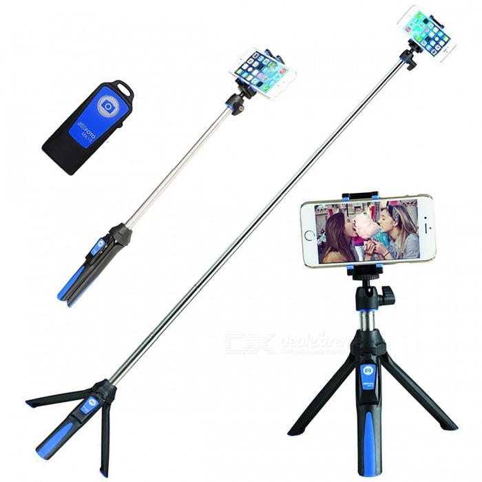 BENRO MK10 3-in-1 Extendable Selfie Stick Tripod Monopod Bluetooth Remote Shutter Phone Holder - BlueMounts &amp; Holders<br>Form  ColorBlueModelMK10MaterialAluminum alloyQuantity1 DX.PCM.Model.AttributeModel.UnitMount TypeSelfie monopodCompatible ModelsUniversalCompatible Size(inch)3.5-7 inchesPacking List1 x Selfie stick1 x Phone Tripod Mount1 x Gopro adapter1 x Bluetooth control<br>