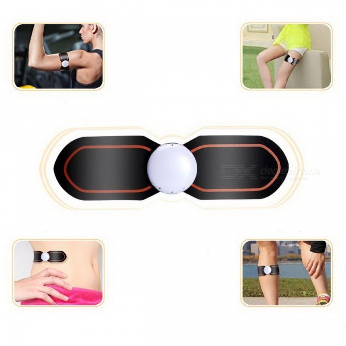 Buy Electrical Muscle Simulation Body Fitness Equipment ABS Two Pads EMS Training Gear with Litecoins with Free Shipping on Gipsybee.com