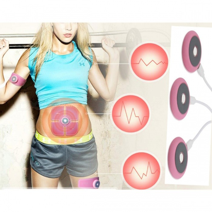 Buy 3Pcs Smart Electric Fitness Training Gears with Electrical Muscle Stimulator Technology, Muscle Exercise Tool - Pink with Litecoins with Free Shipping on Gipsybee.com