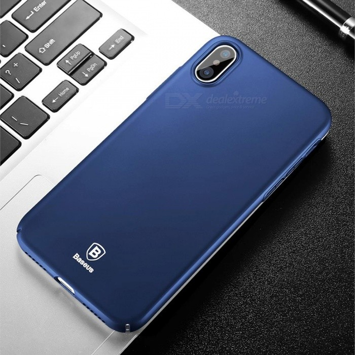 Baseus Ultrathin Luxury Smooth Hard PC Case for IPHONE X - Dark Blue