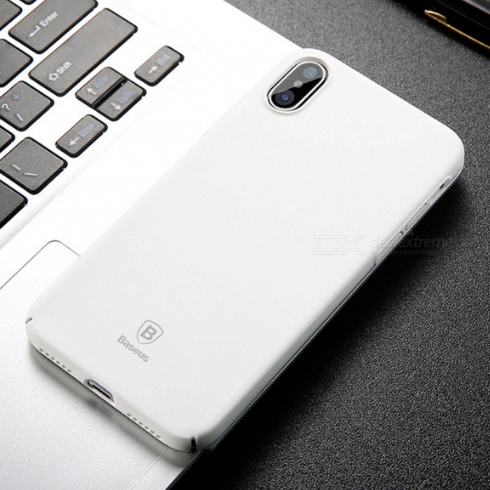 Baseus Ultrathin Luxury Smooth Hard PC Case for IPHONE X - White