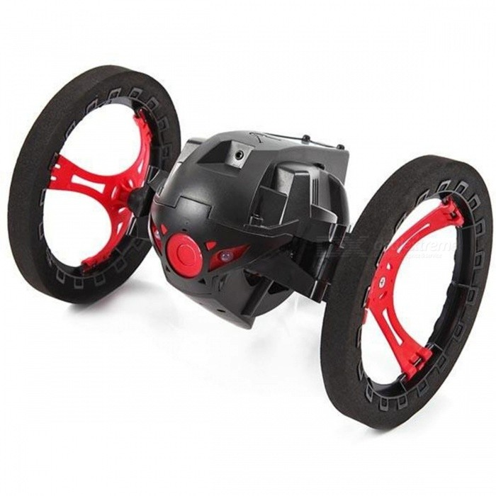 4CH 2.4GHz Jumping Sumo Bounce RC Car with Flexible WheelsR/C Cars<br>Form  ColorWhite / Black (Send By Randomly)ModelN/AMaterialPlastic,MetalQuantity1 DX.PCM.Model.AttributeModel.UnitShade Of ColorMulti-colorShape ModelOthers,-ScaleOthers,-Channels Quanlity4 DX.PCM.Model.AttributeModel.UnitFunctionOthers,-Remote control frequency2.4GHzRemote Control Range30-50 DX.PCM.Model.AttributeModel.UnitSuitable Age 12-15 years,Grown upsCameraNoLamp NoBattery Capacity/ DX.PCM.Model.AttributeModel.UnitBattery TypeLi-polymer batteryCharging Time45 DX.PCM.Model.AttributeModel.UnitWorking Time15-18 DX.PCM.Model.AttributeModel.UnitRemote Controller Battery TypeAARemote Controller Battery NumberNot IncludedPacking List1 x Bounce car1 x Remote controller<br>