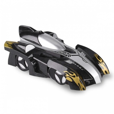 Electric Remote Control 360 Degree Rotating Wall Climbing RC Car with LED Lamp - Black