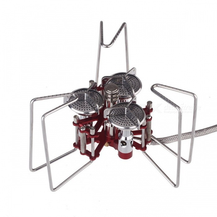 Portable Aluminum 5800W BBQ Gas Stove w/ Three Detachable Burners for Outdoor CampingCooking Stove And Hardware<br>Form  ColorRed + SilverQuantity1 DX.PCM.Model.AttributeModel.UnitMaterialAluminum alloy &amp; stainless steelBest UseFamily &amp; car camping,Camping,Mountaineering,Travel,Cycling,FishingStove TypeFoldable sturdy stander,TypeCamp StovesPacking List1 x Stove Kit1 x Carry Bag1 x User Manual (English)<br>