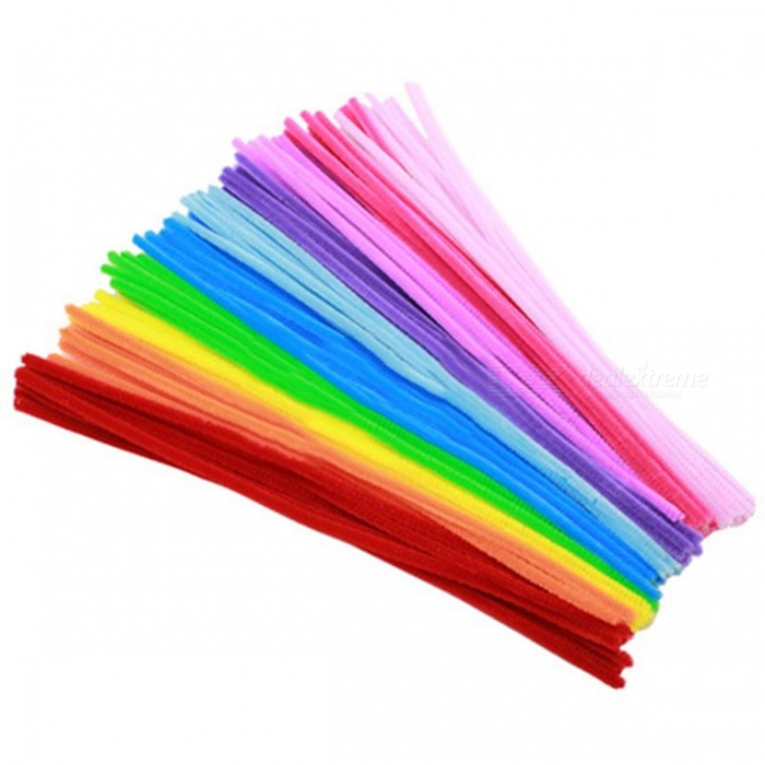 100Pcs Flexible Montessori Chenille Sticks for Children Kids, Pipe Cleaner Stems CraftEducational Toys<br>Form  ColorColorful (Light Mix)ModelN/AMaterialCraft Pipe CleanersQuantity1 setSuitable Age 3-4 years,5-7 years,8-11 yearsPacking List100 x Shilly-sticks<br>
