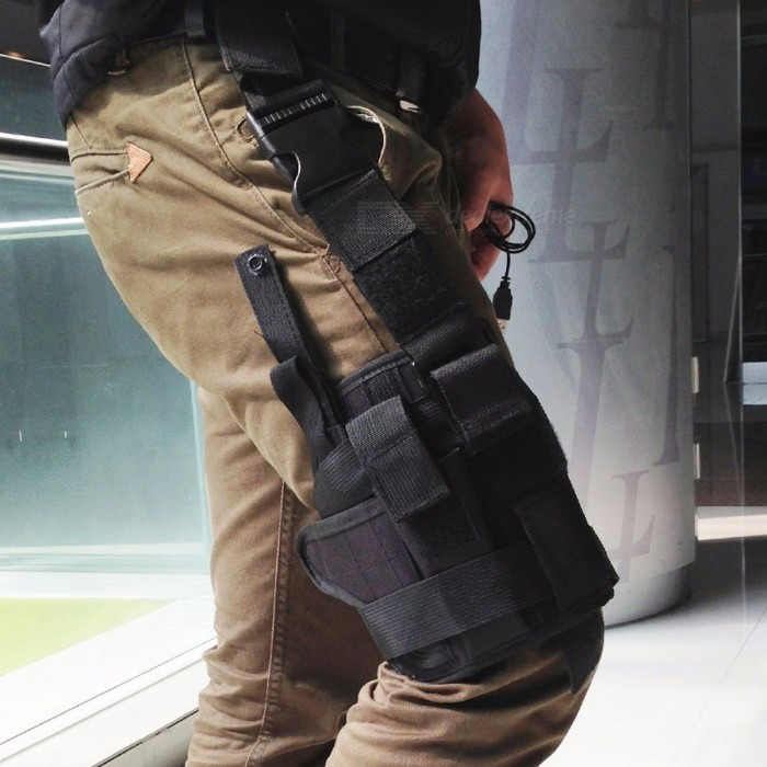 Outdoor Tactical 7 Colors Adjustable Puttee Thigh Leg Shouder Pistol Gun Holster Pouch Camping Wrap-around Hunting Accessories  CPGun Holsters<br>DescriptionBrand Name: LIXADAMaterial: Terylene<br>