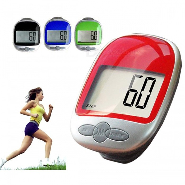 Clip On Sports Running Multifunction Large LCD Display Electronic Pedometer Calorie Measurement (1 x AG13) random colourFitness electronics<br>DescriptionColor: MultiBrand Name: centechiaType: Single-function Pedometer<br>