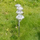 4pcs/lot Waterproof Outdoor Solar Power Lawn Lamps LED Spot Light Garden Path Stainles Steel Solar Landscape Garden Luminaria White Light