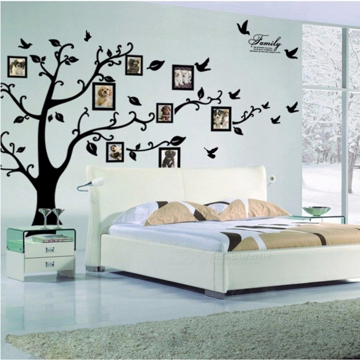 3D DIY Photo Tree PVC Wall Decals/Adhesive Family Wall Stickers Mural Art Home Decor (Large 200*250Cm/79*99in Black ) 200*250cmWall Sticker <br>DescriptionStyle: ModernPattern: Plane Wall StickerClassification: For WallTheme: PlantScenarios: WallBrand Name: ZOOYOOSpecification: Single-piece PackageMaterial: Other<br>
