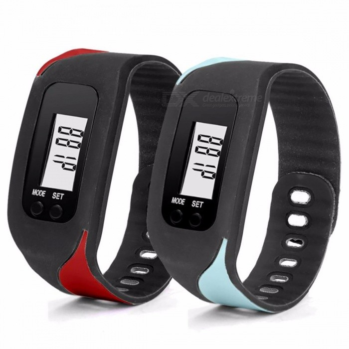 Stylish Pedometer Step Counter Bluetooth Health Bracelet Smart Pedometers Fitness Tracker (99,999 counts) random colourFitness electronics<br>Description<br><br><br><br><br><br>Type: Calorie Calculation Function<br><br><br><br><br><br><br><br><br><br><br><br>Steps count from 0 to 99,999.<br><br>Low battery consumption and Auto Sleep<br><br>Auto detect waist movement while jogging<br><br>Specification:<br><br>Function: step counter, distance &amp;amp; calorie calculation<br><br>LCD display, easy to read<br><br>Power by: 1x button cell (battery included)<br><br>Size: approx. 4.5 x 3.4 x 2.2cm<br><br>Material: ABS+Silica gel<br>