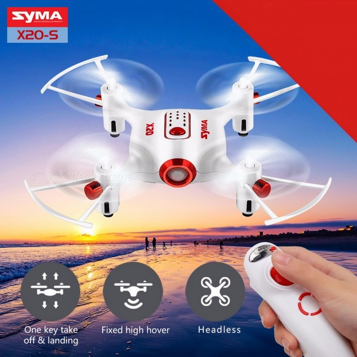2017 Mini Aircraft latest Style Syma X20-S Drone RC Quacopter 2.4G 4CH 6-aixs Gyro RTF with Headless Mode Altitude Hold 3D-flip x20-s WHITER/C Airplanes&amp;Quadcopters<br>DescriptionType: HelicopterFeatures: Remote Control,FlashingAerial Photography: NoBrand Name: SYMAState of Assembly: Ready-to-GoAge Range: &gt; 14 years old,12-15 Years,GrownupsPackage Includes: USB Cable,Charger,Original Box,Operating Instructions,Batteries,Remote ControllerMotor: Brush MotorMaterial: PlasticControl Channels: 4 ChannelsController Mode: MODE2Power Source: ElectricRemote Control: Yes<br>