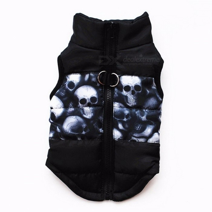 Winter Warm Pet Clothes Windproof Padded Coat Jacket, Puppy Outfit Clothing for Small Dog Yorkies Chihuahua - Black
