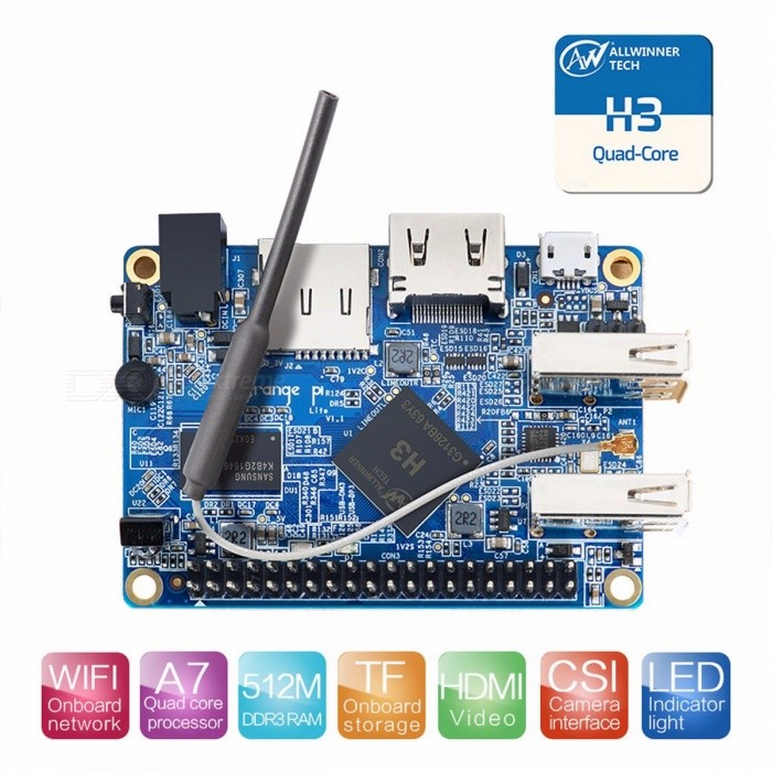 Buy Orange Pi Lite with Quad Core 1.2GHz  512MB DDR3 WiFi Beyond Open Source PC Raspberry Pi 2 for DIY Project Coming Orange Pi Lite with Litecoins with Free Shipping on Gipsybee.com