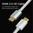 Vention HDMI 2.0 Cable 4K 3D Cotton Braided 2160P 1m 1.5m 2m 3m 5m 10m 15m Cable for Projector LCD Apple TV Silver (300cm)