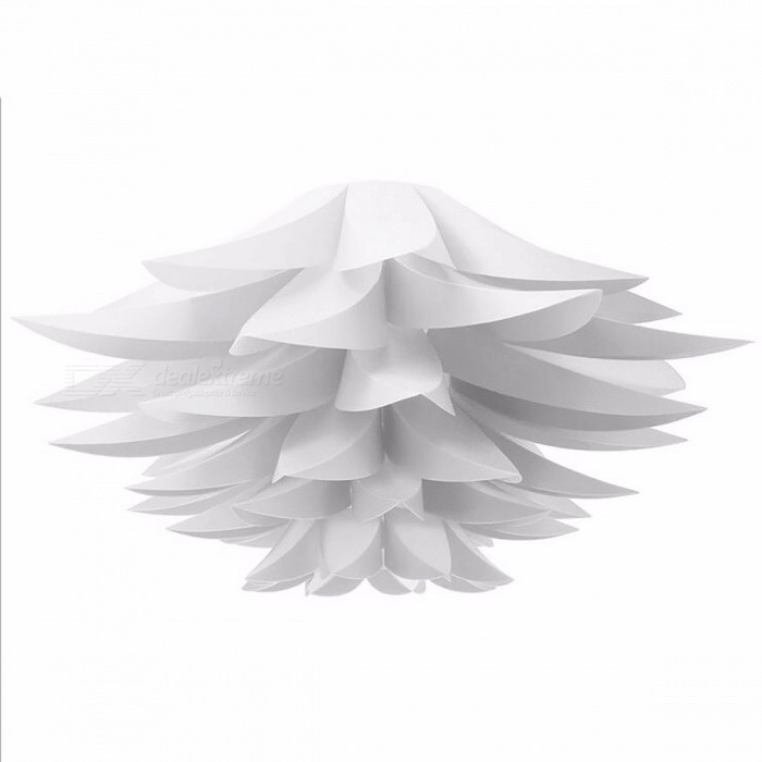 Buy DIY Lily Lotus Shape Pendant Lampshade LED Hanging Lamp for Cafe Restaurant Ceiling Room Decoration,  White with Litecoins with Free Shipping on Gipsybee.com