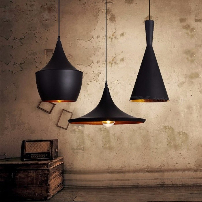 Vintage Style Pendant Light Lamp European Industrial Wind E27 Base Droplight for Restaurant Guest Room Home Decoration