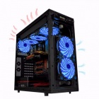 120mm LED Ultra Silent Computer PC Case Fan 15 LEDs 12V With Rubber Quiet Molex Connector Easy Installed Fan green light