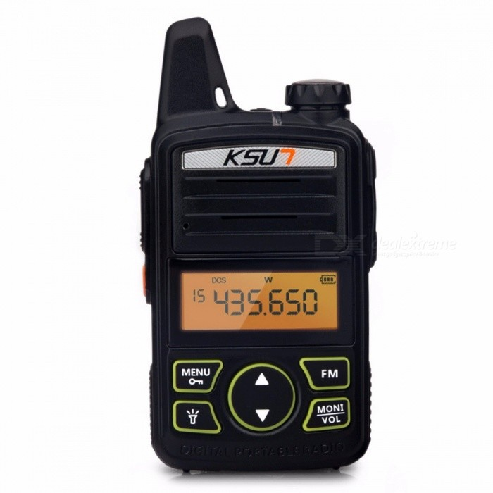 KSUN X-30TFSI Mini Walkie Talkie Portable Radio Set UHF Handheld Two Way  Ham Radio Communicator HF Transceiver Amateur Handy