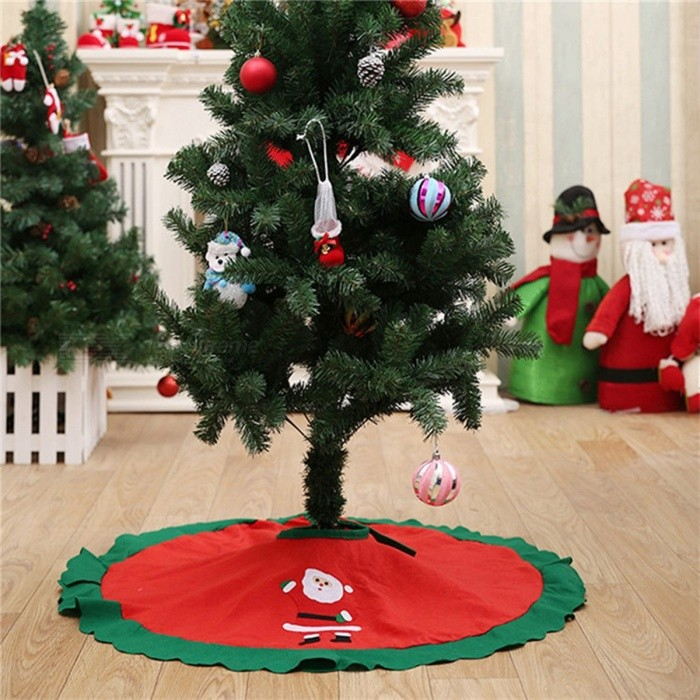 Albero Di Natale Anni 70.70 100cm Christmas Tree Skirt Embroidered Non Woven Christmas Tree Skirt Xmas Trees Ornaments Christmas Decorations For Home 90 Cm
