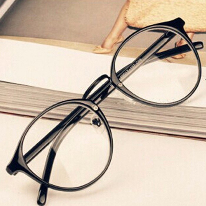 Unisex Nerd Glasses Clear Lens Eyewear  Retro Eyeglasses Spectacles Glasses Transparent for Men Women Brilliant BlackEyeglasses<br>DescriptionItem Type: Eyewear AccessoriesEyewear Accessories: FramesFrame Material: AcetateGender: UnisexBrand Name: flowerhorsePattern Type: Print<br>