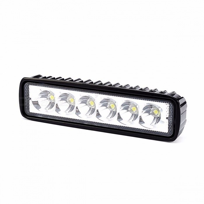 2Pcs 12V 18W Car Bar Shape LED Work Light Spotlight Floodlight, Driving Running Light, Fog Lamp for Offroad SUV 4WD Boat Tractor Spotlight for sale in Bitcoin, Litecoin, Ethereum, Bitcoin Cash with the best price and Free Shipping on Gipsybee.com