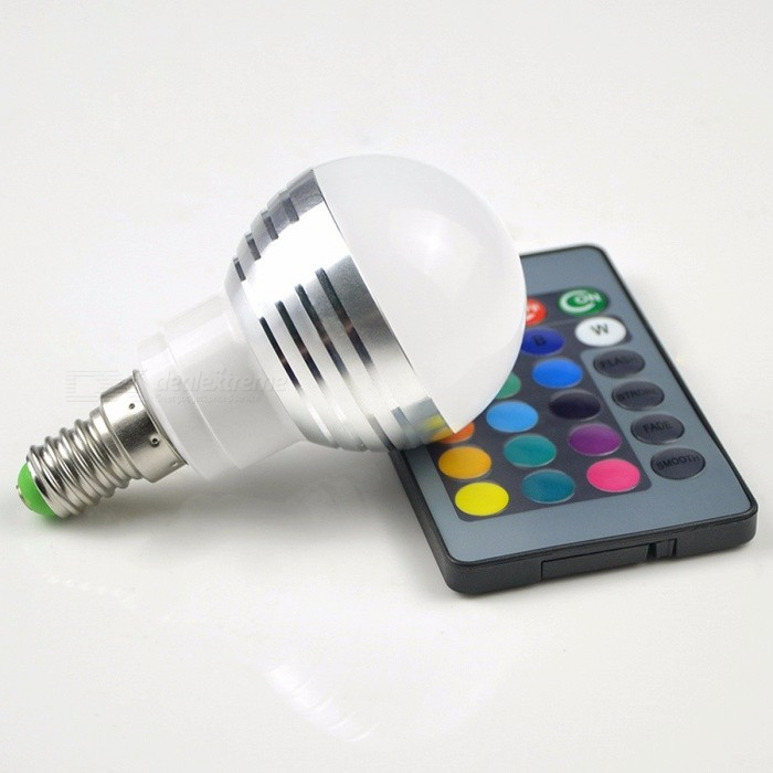 E27 E14 RGB LED Bulb 16-Color Magic LED Night Light Lamp Dimmable Holiday Stage Light 110V 220V with 24-Key Remote Control