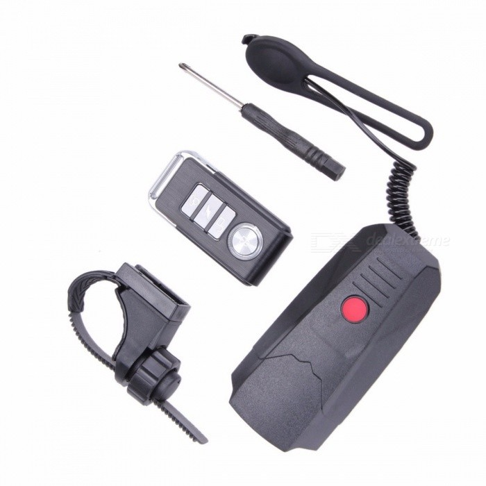 3 in 1 Wireless Electronic Bike Bell Bicycle Alarm Light Remote Control MTB Bike Cycling Safety Warning Handbar Horn Bell blackBike Accessories<br>Description<br><br><br><br><br>Type: Electric Horn<br><br><br>Brand Name: ROBESBON<br><br><br><br><br><br><br><br>Electrical Specification:&amp;nbsp;<br>2 AAA battery powered&amp;nbsp;<br>Remote control 112V/27A,alkaline battery power supply&amp;nbsp;<br>Receiving host ultra low power standby&amp;nbsp;<br>Remote control for more than 8 consecutive months(calculated on a daily basis switch 5 times)&amp;nbsp;<br>Working environment temperature: -10~60 degree&amp;nbsp;<br>Working environment humidity: &amp;lt;80%&amp;nbsp;<br>Storage temperature: +70degree ~ -20degree&amp;nbsp;<br><br>Function Description:&amp;nbsp;<br>Battery installation&amp;nbsp;<br>Remote battery installation,when the remote control distance shorter or lights dim when you replace the new battery,replace the battery to open the remote shell with a screwdriver,a 12V27A alkaline battery into the battery polarity,attention to close the shell locking screw&amp;nbsp;<br>Receive the host battery installation,first remove the host using a screwdriver to open the battery door,into the two AAA battery host will ring a short Be... Note that when installing the battery polarity&amp;nbsp;<br>Host installation:&amp;nbsp;<br>Install fixed support installed in the bicycle to Li middle,then the host button on the bracket,and the bell ring button button on the handle<br><br><br><br><br><br><br>1 X Bicycle Handlebar Ring Bell Horn (with package box)&amp;nbsp;<br>1 X Remote Control(Battery included)&amp;nbsp;<br>1 X Mini Screwdriver&amp;nbsp;<br>1 X Instruction<br>