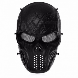 Airsoft-Paintball-Tactical-Safety-Full-Face-Protection-Skull-Mask-for-CS-War-BB-Game-MASK-M06-Paintball-Sports-black