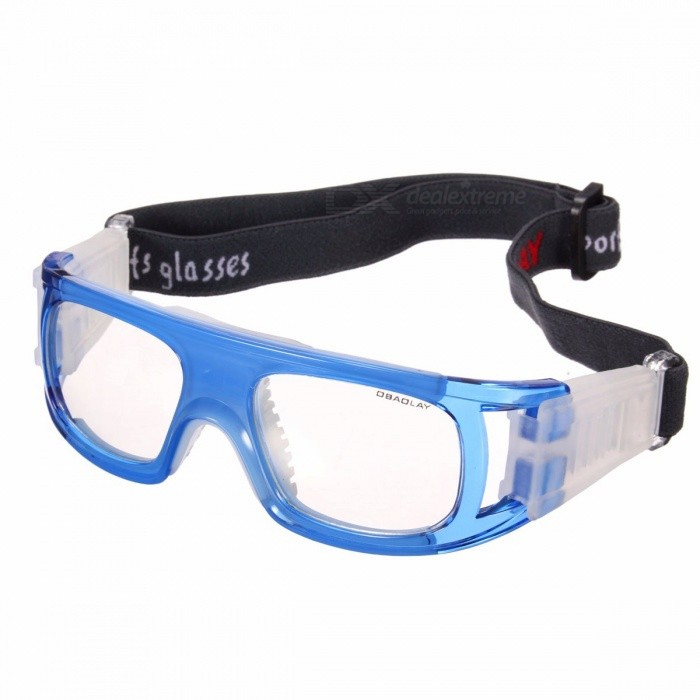 Buy OUTERDO Basketball Soccer Football Sports Protective Elastic Goggles, Eye Safety Glasses for Men, Women Blue with Litecoins with Free Shipping on Gipsybee.com