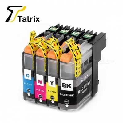 LC121 Ink Cartridge with Chips for Brother Use Printer DCP-J552DW/DCP-J752DW/MFC-J470DW/MFC-J650DW Inkjet Printer BK