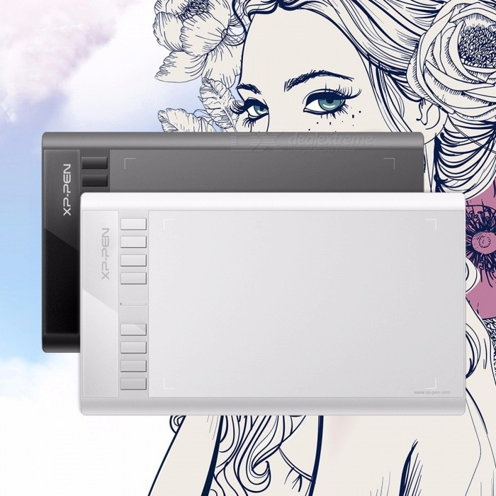 Buy XP-Pen Star 03 High Quality Graphics Drawing Tablet Signature Painting Writing Board with Battery-free Passive Stylus Pen White with Litecoins with Free Shipping on Gipsybee.com