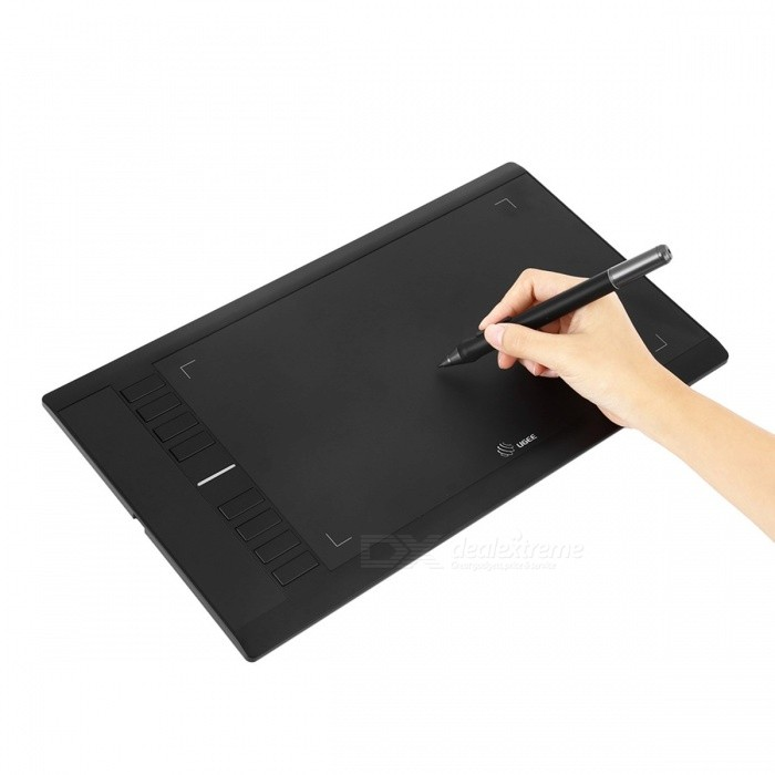 UGEE-M708-10*6-Inches-Smart-Graphic-Drawing-Tablet-Digital-Signature-Pad-with-2048-Level-Digital-Pen-black