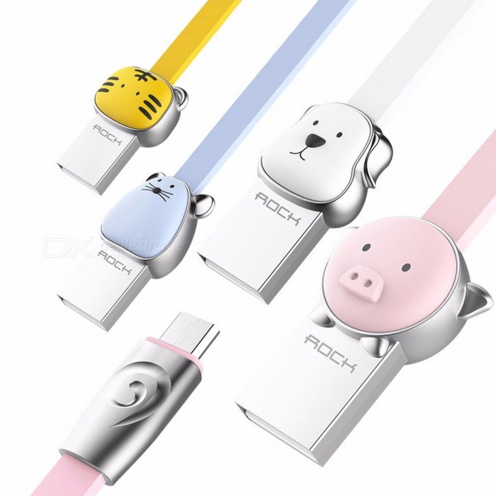 Chicken ROCK Mascot Series Alloy Metal Micro USB Charging Data Cable for Samsung, Xiaomi, Huawei, Meizu, HTC, Android Phones 100cm/Yellow TigerCables<br>DescriptionCompatible Brand: SONY,Blackberry,LG,Nokia,Palm,HTC,Toshiba,Samsung,Panasonic,MotorolaType: Micro USBBrand Name: RockHas Retail Package: Yes<br>