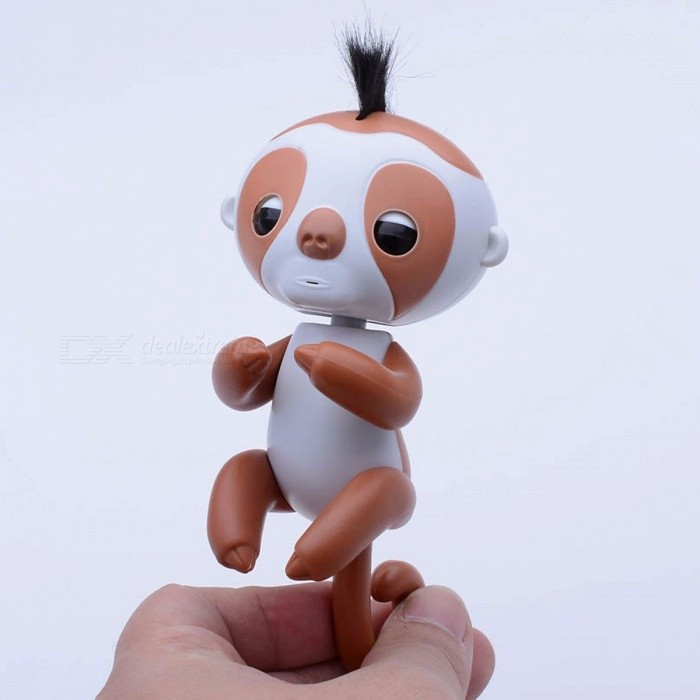 AIBOULLY-Interactive-Finger-Sloth-Unicorn-Monkey-Smart-Induction-Toy-Christmas-Gift-Toy-for-Baby-Kids-Brown2bWhite-(Sloth)