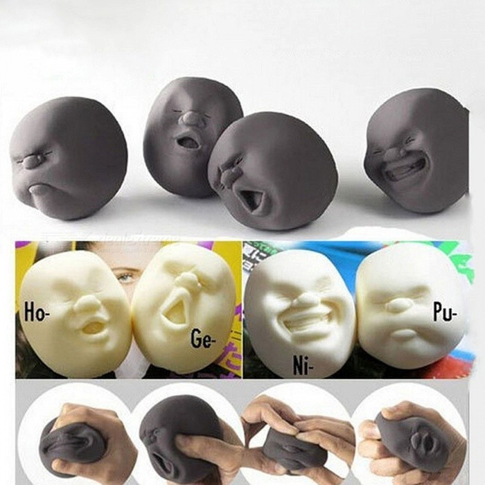 New Human Emotion Face Vent Ball Toys Resin Relax Pop Adult Novelty Toys Stress Relieving Anti-stress ball toys Gift CX674508